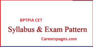 BPTPIA CET Syllabus