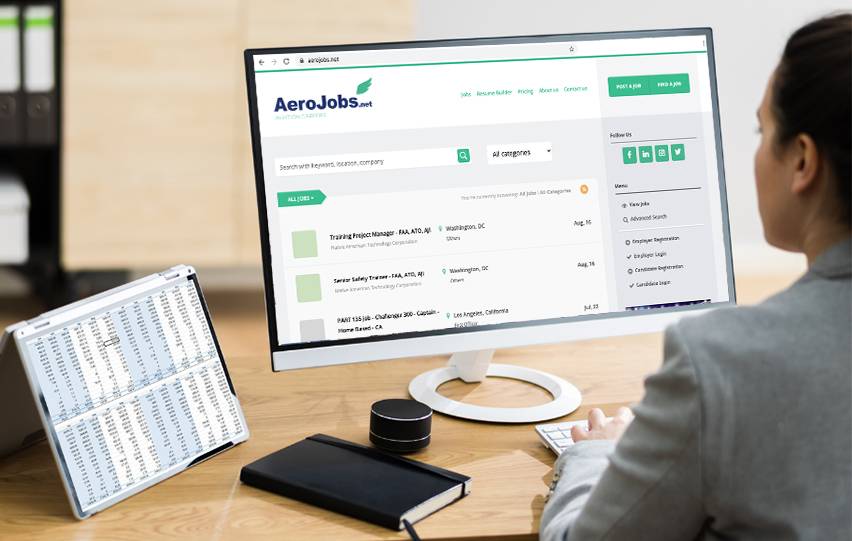Search for a Job with Aerojobs