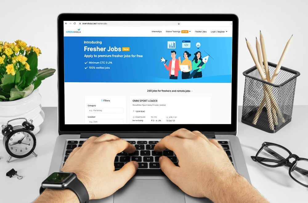 Search Online for Jobs with Internshala