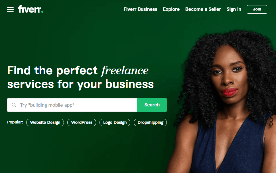 Fiverr - Search for a Job